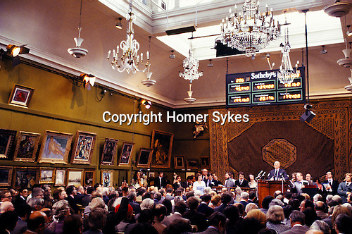 SOTHEBY'S AUCTION, LONDON, Robert Von Hirsch collection sale at Sotheby's Bond Street London 1978 Peter Wilson Chairman auctioneer