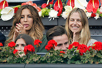 Felipe Reyes' wife Sirenia Cabrera (l) and the Spanish model Martina Klein during Madrid Open Tennis 2016 match.May, 6, 2016.(ALTERPHOTOS/Acero) /NortePhoto