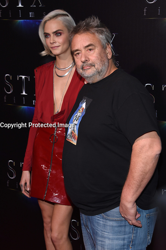 Cara Delevingne + Luc Besson @ the photocall for STX Films 'The State of the Industry: Past, Present and Future' held @ The Colosseum at Caesars Palace.<br /> March 28, 2017 , Las Vegas, USA. # CINEMA CON 2017 - PHOTOCALL 'THE STATE OF THE INDUSTRY'
