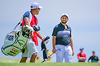 Alexander Levy (FRA) prepares to putt on 11 during Thursday's round 1 of the 117th U.S. Open, at Erin Hills, Erin, Wisconsin. 6/15/2017.<br /> Picture: Golffile | Ken Murray<br /> <br /> <br /> All photo usage must carry mandatory copyright credit (&copy; Golffile | Ken Murray)