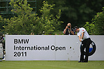 Gary Boyd (ENG) tees off on the par3 8th tee during Day 1 of the BMW International Open at Golf Club Munchen Eichenried, Germany, 23rd June 2011 (Photo Eoin Clarke/www.golffile.ie)