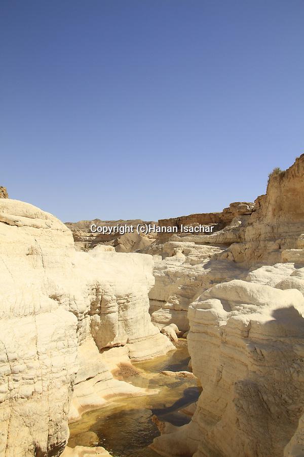 Israel, Negev, Shayish waterholes in Wadi Zin