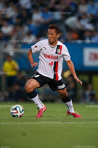 Yoshiro Abe (Jubilo), <br /> JULY 26, 2014 - Football /Soccer : <br /> 2014 J.LEAGUE Division 2 <br /> between Yokohama FC 4-0 Jubilo Iwata <br /> at NHK Spring Mitsuzawa Football Stadium, Kanagawa, Japan. <br /> (Photo by AFLO SPORT) [1205]
