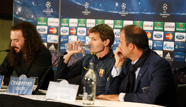 Barcelona coach Tito Vilanova at the Champions League press conference
