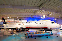 Photography of the Carolinas Aviation Museum  located on the grounds of Charlotte Douglas International Airport in Charlotte, North Carolina.<br /> <br /> The Flight 1549, Miracle on the Hudson US Airways aircraft is on display at the Charlotte Aviation Museum.<br /> <br /> Charlotte Photographer -PatrickSchneiderPhoto.com