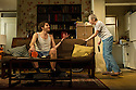 Bath, UK. 11.04.2013. 4,000 MILES by Amy Herzog, opens at the Ustinov Studio, Theatre Royal Bath, as part of the 2013 American Season. the play is directed by James Dacre, recently appointed Artistic Director of Royal and Derngate, Northampton. Lighting design by Richard Howell and set and costume design by Simon Kenny. The production runs from 11th April to 11th May. Picture shows: Sara Kestelman (Vera) and Daniel Boyd (Leo). Photograph © Jane Hobson.