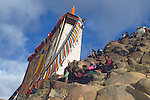 Shigatse, Tibet, the Hanging of the Huge Thangka festival at Tashilhunpo Monastery