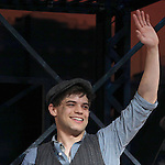 Jeremy Jordan.during the 'NEWSIES' Opening Night Curtain Call at the Nederlander Theatre in New York on 3/29/2012