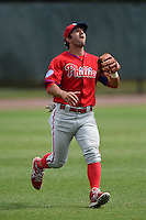 Philadelphia Phillies Darin Mastroianni (19) during a minor league spring training intrasquad game on March 27, 2015 at the Carpenter Complex in Clearwater, Florida.  (Mike Janes/Four Seam Images)
