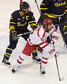 Jared Kolquist (Merrimack - 15), Nick Roberto (BU - 15) - The visiting Merrimack College Warriors defeated the Boston University Terriers 4-1 to complete a regular season sweep on Friday, January 27, 2017, at Agganis Arena in Boston, Massachusetts.The visiting Merrimack College Warriors defeated the Boston University Terriers 4-1 to complete a regular season sweep on Friday, January 27, 2017, at Agganis Arena in Boston, Massachusetts.