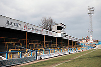 General view of Chesterfield FC Football Ground, Recreation Ground, Saltergate, Chesterfield, Derbyshire, pictured on 9th April 1996