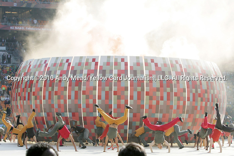 11 JUN 2010: Image of performers in the Opening Ceremony. The Opening Ceremony for the 2010 FIFA World Cup were held at Soccer City Stadium in Johannesburg, South Africa prior to the opening match between South Africa and Mexico
