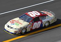 Apr 27, 2007; Talladega, AL, USA; Nascar Nextel Cup Series driver David Reutimann (00) during practice for the Aarons 499 at Talladega Superspeedway. Mandatory Credit: Mark J. Rebilas