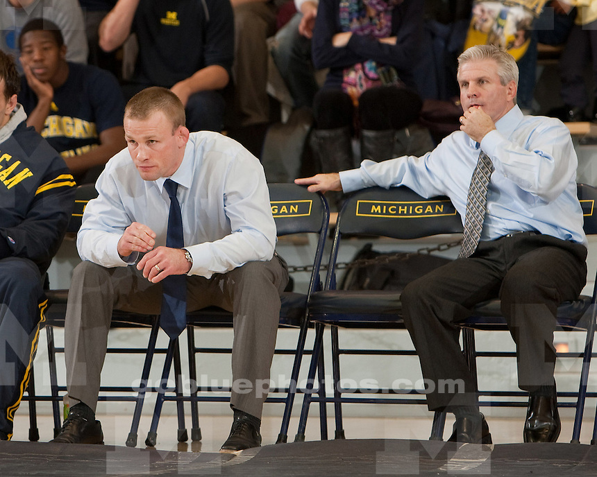 University of Michigan wrestling beat Wisconsin 21-12 at Cliff Keen Arena in Ann Arbor, Mich., on December 11, 2011.