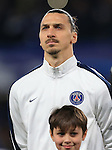 PSG's Zlatan Ibrahimovic in action<br /> <br /> - UEFA Champions League - Chelsea vs Paris Saint Germain - Stamford Bridge - London - England - 9th March 2016 - Pic David Klein/Sportimage