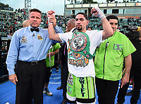 "CARSON, CA- APRIL 20:  Danny Garcia after defeating Adrian Granados during the Fox Sports ""PBC on Fox"" Fight Night at Dignity Health Sports Park on April 20, 2019 in Carson, California. (Photo by Frank Micelotta/Fox Sports/PictureGroup)"