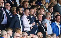 Leeds United director of football Victor Orta and chief executive Angus Kinnear watch on<br /> <br /> Photographer Alex Dodd/CameraSport<br /> <br /> The EFL Sky Bet Championship - Leeds United v Nottingham Forest - Saturday 10th August 2019 - Elland Road - Leeds<br /> <br /> World Copyright © 2019 CameraSport. All rights reserved. 43 Linden Ave. Countesthorpe. Leicester. England. LE8 5PG - Tel: +44 (0) 116 277 4147 - admin@camerasport.com - www.camerasport.com