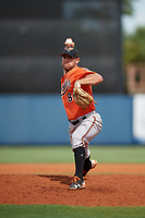 Baltimore Orioles pitcher Colin Woody (84) delivers a pitch during a Florida Instructional League game against the Tampa Bay Rays on October 1, 2018 at the Charlotte Sports Park in Port Charlotte, Florida.  (Mike Janes/Four Seam Images)