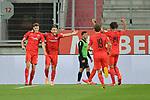 Spiel am 35 Spieltag in der Saison 2019-2020 in der 3. Bundesliga zwischen dem FC Ingolstadt 04 und dem SV Waldhof Mannheim am 24.06.2020 in Ingolstadt. <br /> <br /> Torjubel beim FC Ingolstadt nach dem 2:0 durch Maximilian Thalhammer (Nr.6, FC Ingolstadt 04)<br /> <br /> Foto © PIX-Sportfotos *** Foto ist honorarpflichtig! *** Auf Anfrage in hoeherer Qualitaet/Aufloesung. Belegexemplar erbeten. Veroeffentlichung ausschliesslich fuer journalistisch-publizistische Zwecke. For editorial use only. DFL regulations prohibit any use of photographs as image sequences and/or quasi-video.