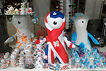 London 2012 Olympic mascots in a shop window