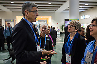 Rabbi Rick Jacobs (left) speaks with people attending the Union for Reform Judaism Biennial 2017 in the Hynes Convention Center in Boston, Mass., USA, on Wed., Dec. 6, 2017. Rabbi Jacobs is the president of the Union for Reform Judaism.