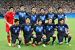 U-23 Japan team group line-up (JPN), AUGUST 4, 2016 - Football / Soccer : Men's First Round Group B between Nigeria - Japan at Amazonia Arena during the Rio 2016 Olympic Games in Manaus, Brazil. (Photo by YUTAKA/AFLO SPORT)
