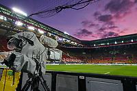 Fritz-Walter stadium, Betzenberg, stadium, Footballstadium,<br /> World Championships-Qualifiers, 08.10.2017, Kaiserslautern, Germany.<br /> Fernsehkamera, TV camera,  *** Local Caption *** © pixathlon<br /> Contact: +49-40-22 63 02 60 , info@pixathlon.de