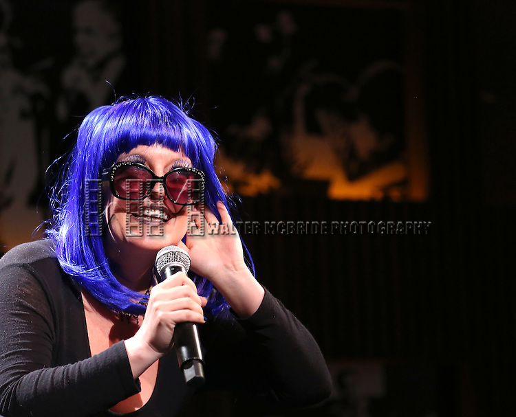 Jennifer Simard in rehearsal for 'The Lord & The Master - Broadwayworld.com sings Andrew Lloyd Webber & Stephen Sondheim'  at Joe's Pub on June 16, 2014 in New York City.
