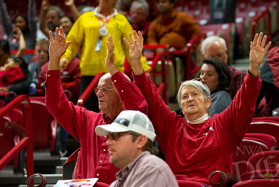 Arizona State Sun Devils vs Arkansas Razorbacks –Bud Walton Arena, University of Arkansas,  Fayetteville, AR, on Sunday, November 18, 2018.  Special to NWA Democrat-Gazette David Beach