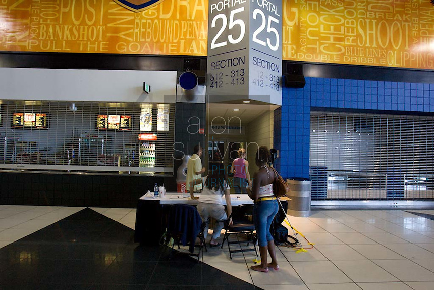 An area for taped auditions at a Dreams N2 Reality show and casting call at Philips Arena in Atlanta on Saturday, August 4, 2007. People offered their auditions in hopes of gaining spots on game shows and others in the reality TV genre.