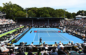 11th January 2018, ASB Tennis Centre, Auckland, New Zealand; ASB Classic, ATP Mens Tennis;  Centre court during the ASB Classic ATP Men's Tournament Day 4 Quarter Finals