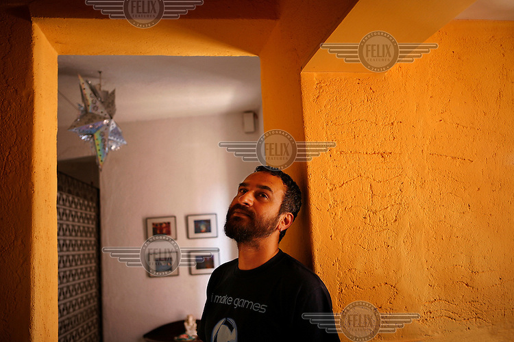 Arjun Bali, a young filmmaker from Mumbai, at his home in the Bandra area of the city.