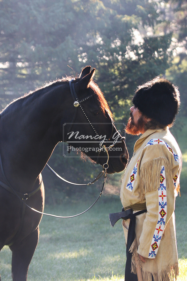 A pioneer and his horse