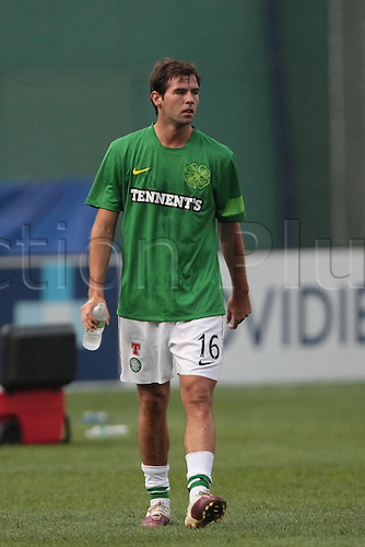 21 JUL 2010:  Celtic's Joe Ledley (16). Celtic defeated  Sporting Clube de Portugal 6-5 on penalty kicks in an international friendly match, part of the Fenway Football Challenge, at Fenway Park in Boston, Massachusetts on July 21, 2010.