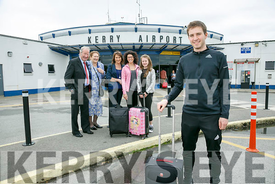 World Champion Irish Dancer David Geaney from Dingle flies out on Tuesday for the live shows of Britain's Got Talent this week. Pictured he with family Eddie Moroney, Betty Moroney, Susan Geaney, Suzie Geaney and Ciara Geaney