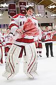 Ryan Carroll (Harvard - 35) - The Harvard University Crimson defeated the St. Lawrence University Saints 4-3 on senior night Saturday, February 26, 2011, at Bright Hockey Center in Cambridge, Massachusetts.