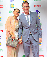 03/06/2014  <br /> Jason Byrne &amp; Brenda Byrne<br /> during the Pride of Ireland awards at the Mansion House, Dublin.<br /> Photo: Gareth Chaney Collins
