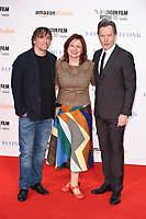 Director Richard Linklater, Claire Stewart &amp; Bryan Cranston at the London Film Festival 2017 screening of &quot;Last Flag Flying&quot; at the Odeon Leicester Square, London, UK. <br /> 08 October  2017<br /> Picture: Steve Vas/Featureflash/SilverHub 0208 004 5359 sales@silverhubmedia.com