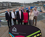 Gemau Cymru Launch 2014<br /> <br /> L-R Jon Morgan Disability Sport Wales, Rhian Gibson Welsh Gymnastics. John Griffiths AM Minister for Sport &amp; Culture. Matt Newman, Welsh Athletics. Efa Gruffudd Jones, Urdd. Nigel Midgely, Canoe Wales. Laura McAllister, Sport Wales &amp; Chris Ower, WRU. <br /> 31.03.14<br /> <br /> &copy;Steve Pope-SPORTINGWALES