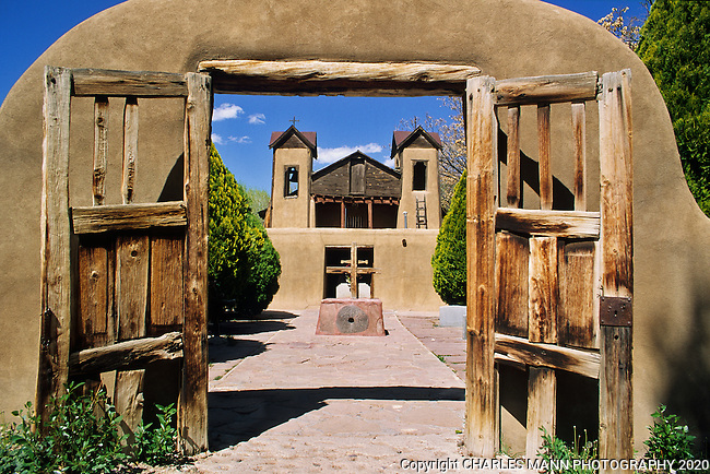 "Visitors come from everywhere to visit the Santuario de Chimayo in Chimayo, New Mexico, which is often called the ""Lourdes of America"" due to the alleged healing properties of the soil that comes from the church's sanctuary."