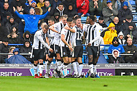 Alex Lacey of Gillingham (2R) is mobbed after scoring the second goa during Portsmouth vs Gillingham, Sky Bet EFL League 1 Football at Fratton Park on 6th October 2018