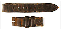 BNPS.co.uk (01202 558833)<br /> Pic: Fellows/BNPS<br /> <br /> The watch strap survives.<br /> <br /> Resurfacing - Historic watch captured from a brave German frogman, for whom the road bridge at Nijmegen proved a bridge to far.<br /> <br /> The family of a British WW2 hero who captured a German diver trying to blow up a vital bridge in the wake of Operation Market Garden, are now <br /> selling the incredibly rare Rolex Panerai watch seized from the exhausted diver.<br /> <br /> Sergeant Major George Rowson helped thwart the attempt to destroy the recently captured road bridge at Nijmegen after another team of German frogman had managed to destroy the neighbouring rail bridge.<br /> <br /> The highly trained German special forces placed fixed charges to the underwater footings of both bridge's, but after being spotted, under heavy fire, and in an exhausted state they were captured at gunpoint by Sgt Rowson and his colleagues. <br /> <br /> Sgt Rowson relieved the frogman of his precious watch and wetsuit and kept them until his recent death.<br /> <br /> His family are now selling the historic artefacts with specialist Auctioneers Fellows in Birmingham, with a whopping &pound;40,000 estimate.
