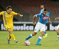 Allan  durante l'incontro di calcio di Serie A   Napoli -Sampdoria allo  Stadio San Paolo  di Napoli , 30 Agosto 2015