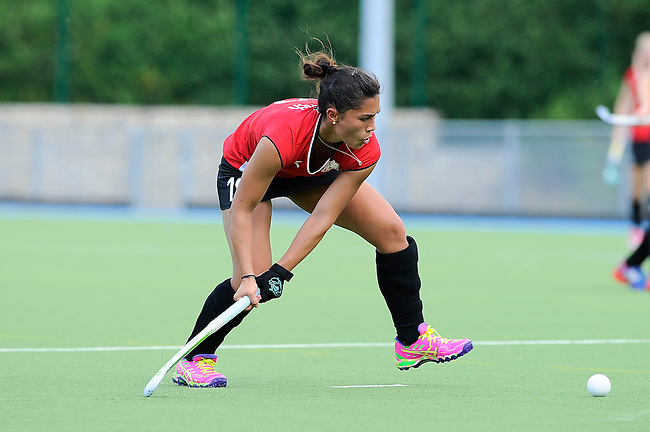 Mannheim, Germany, August 29: During the field hockey group match between Muenchner SC and Team Austria on August 29, 2014 during the NH Hotels Cup 2014 at Mannheimer Hockey Club in Mannheim, Germany. (Photo by Dirk Markgraf / www.265-images.com) *** Local caption ***