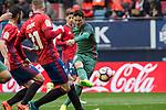 Aritz Aduriz of Athletic Club during the match of  La Liga between Club Atletico Osasuna and Athletic Club Bilbao at El Sadar Stadium  in Pamplona, Spain. April 01, 2017. (ALTERPHOTOS / Rodrigo Jimenez)