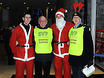 Lorcan Smith, Michael Grogan, Chris Dyas and Frank Cahill who took part in the Santa Run at Scotch Hall. Photo: Colin Bell/pressphotos.ie