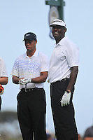 Vijay Singh (FIJ) and Tiger Woods (USA) on the 8th tee during Saturday's Round 3 of the 94th PGA Golf Championship at The Ocean Course, Kiawah Island, South Carolina, USA 10th August 2012 (Photo Eoin Clarke/www.golffile.ie)