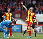 Chris Erskine scores for Partick Thistle and celebrates