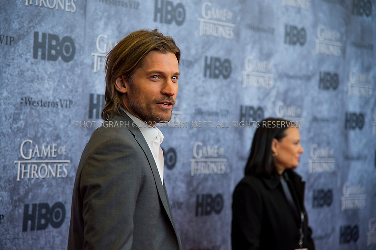 3/21/2013--Seattle, WA, USA..Actor Nikolaj Coster-Waldau, who plays Jaime Lannister in HBO's Game of Thrones, walks the red carpet at Seattle's Cinerama cinema during the Seattle premiere of season three of HBO's American epic fantasy television series . Cast members attended a VIP screening at Cinerama and an after party at the Experience Music Project (EMP) on Thursday, March 21, 2013....©2013 Stuart isett. All rights reserved.
