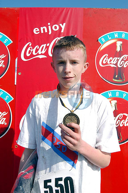 Owen Heeney Winner of The Under 17's 4000m,at The Ras Na Heireann in Dunleer...Picture Tony Campbell Newsfile...This Picture is sent to you by:..Newsfile Ltd.The View, Millmount Abbey, Drogheda, Co Louth, Ireland..Tel: +353419871240.Fax: +353419871260.GSM: +353862500958.ISDN: +353419871010.email: pictures@newsfile.ie.www.newsfile.ie